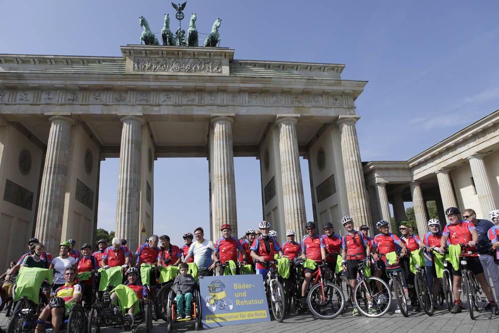Bäder- und Reha-Tour 2014 am Brandenburger Tor