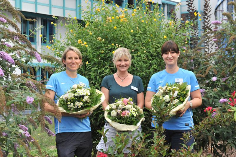 Mitarbeiterinnen Rebecca, Manuela und Julia