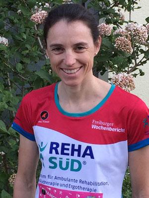 Meike Jaeger beim Halbmarathon 2017 in Freiburg